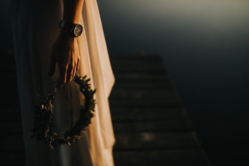 zegarek wianek liście jezioro orle panna młoda