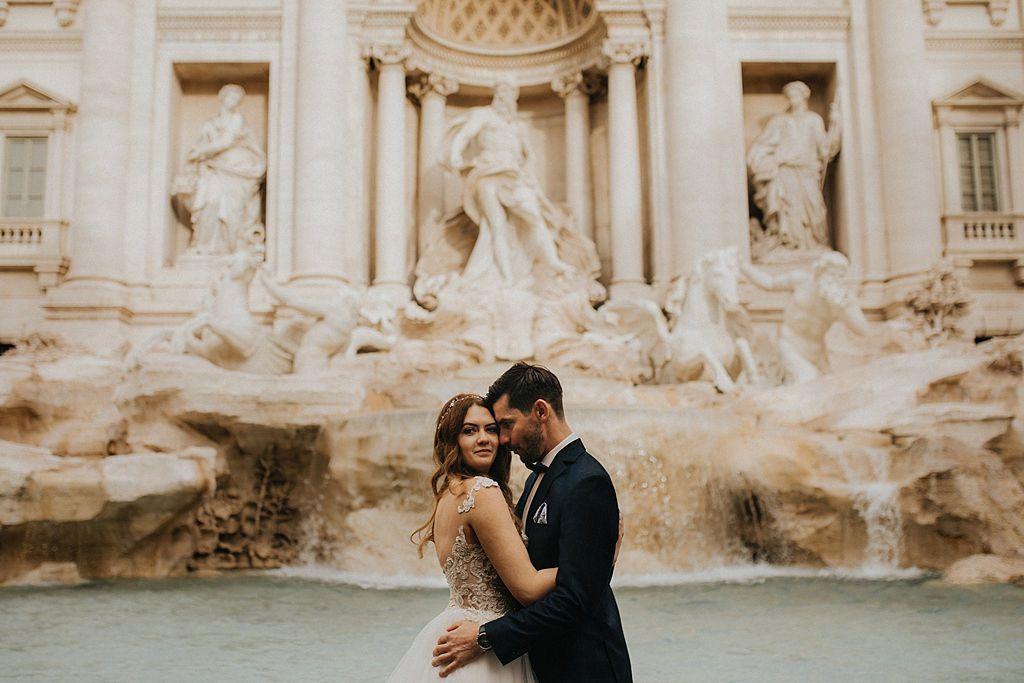 sesja ślubna w rzymie fotografia ślubna poznań twardowski rome italia włochy Fontanna di Trevi