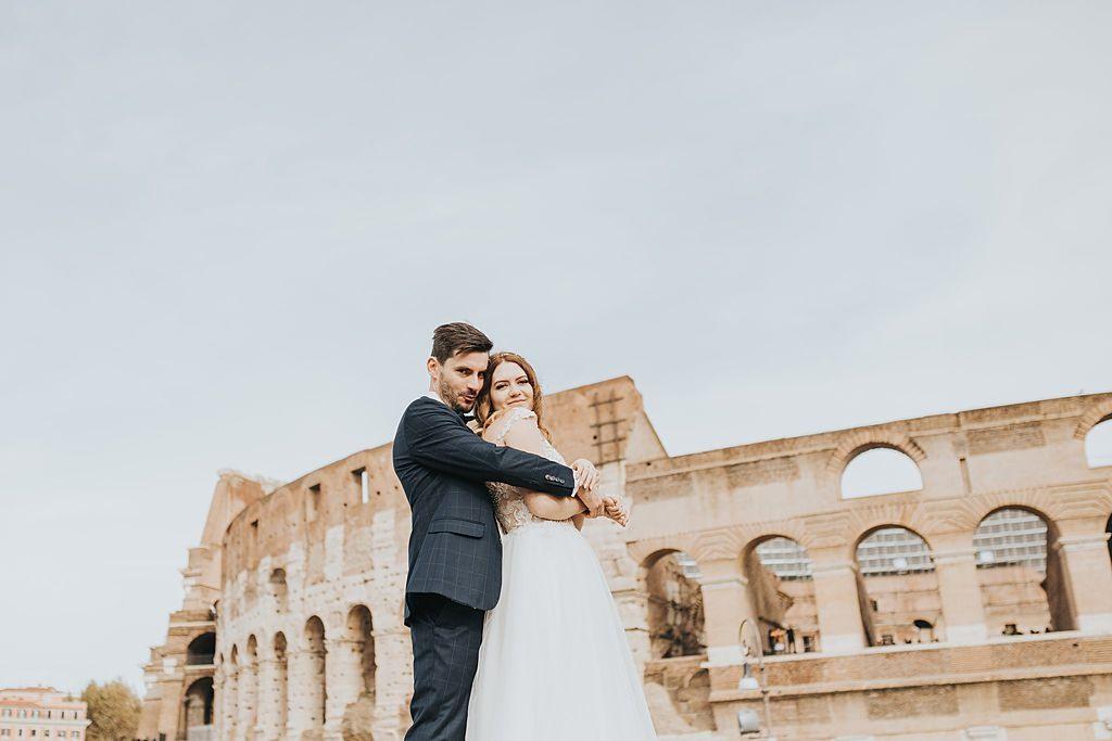 fotografia ślubna poznań twardowski rome italia włochy coloseo koloseum